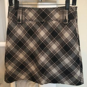 ESPRIT Wool Tweed Plaid Mini Skirt size 2